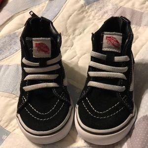 Vans SK-8 HI Zip Black & White /Toddler